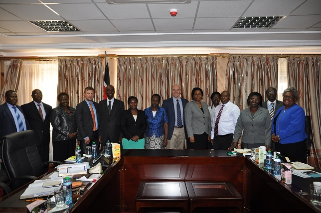 Patrick Shepherd, OGE, and Heath Bailey, US Dept. of State, meet with Kenya Public Service Commission and Kenya School of Government